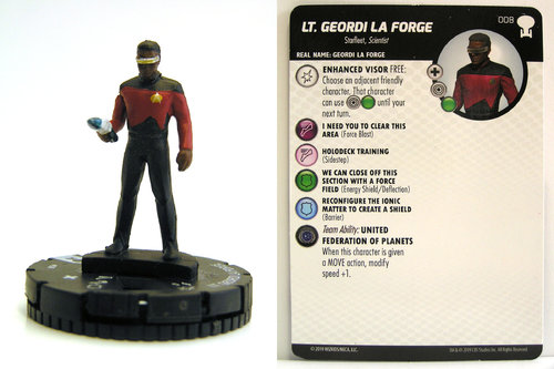 HeroClix - #008 Lt. Geordi La Forge - Star Trek To Boldly Go
