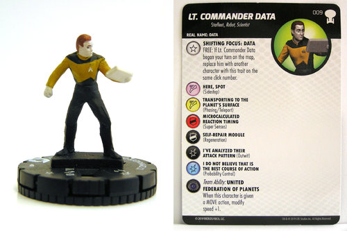 HeroClix - #009 Lt. Commander Data - Star Trek To Boldly Go