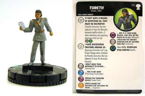 HeroClix - #010 Toreth - Star Trek To Boldly Go
