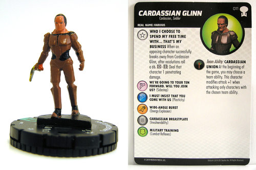 HeroClix - #011 Cardassian Glinn - Star Trek To Boldly Go