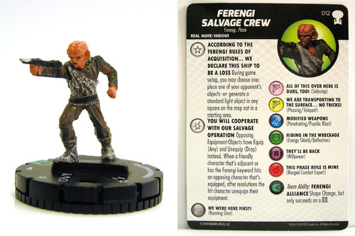 HeroClix - #012 Ferengi Salvage Crew - Star Trek To Boldly Go