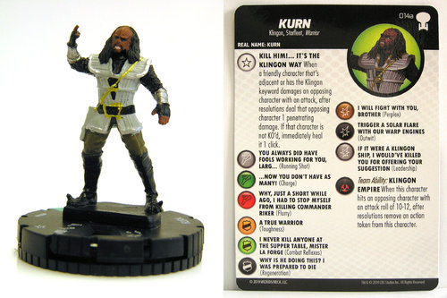 HeroClix - #014a Kurn - Star Trek To Boldly Go