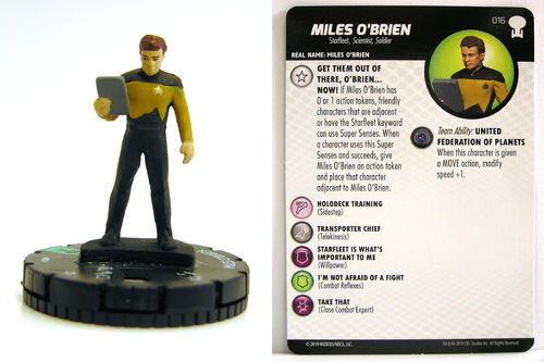 HeroClix - #016 Miles O'Brien - Star Trek To Boldly Go
