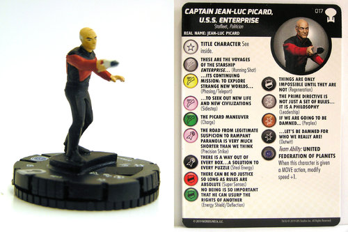 HeroClix - #017 Captain Jean-Luc Picard, U.S.S. Enterprise - Star Trek To Boldly Go