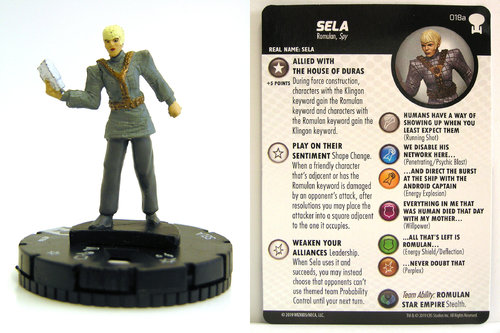 HeroClix - #018a Sela - Star Trek To Boldly Go