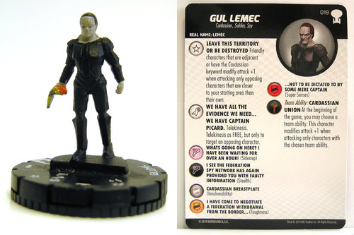 HeroClix - #019 Gul Lemec - Star Trek To Boldly Go