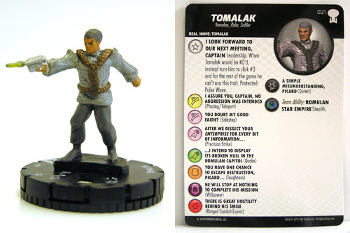 HeroClix - #021 Tomalak - Star Trek To Boldly Go