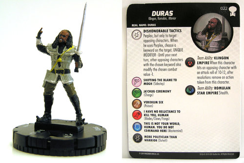HeroClix - #022 Duras - Star Trek To Boldly Go