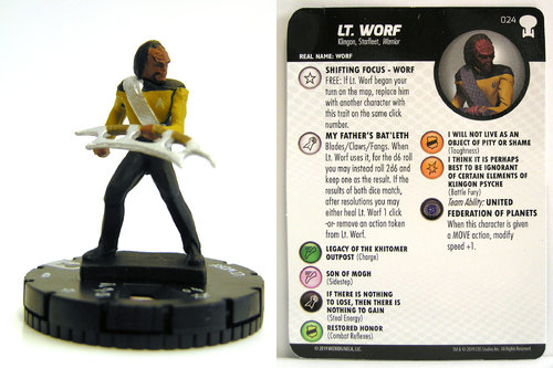 HeroClix - #024 Lt. Worf - Star Trek To Boldly Go