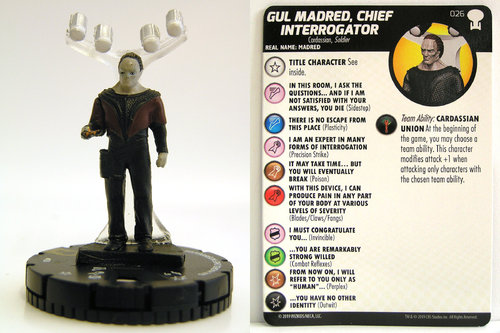 HeroClix - #026 Gul Madred, Chief Interrogator - Star Trek To Boldly Go