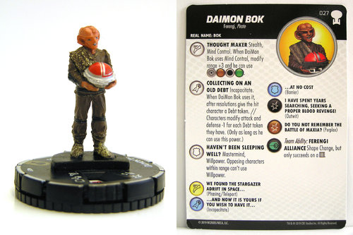 HeroClix - #027 Daimon Bok - Star Trek To Boldly Go