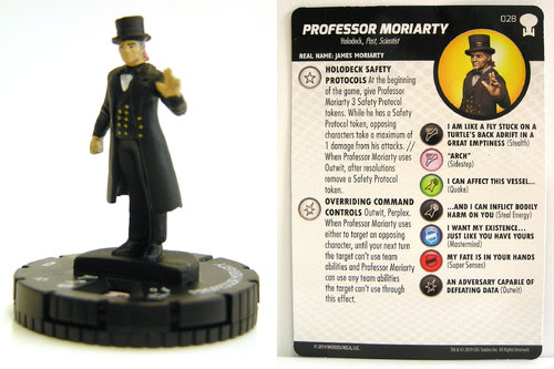 HeroClix - #028 Professor Moriarty - Star Trek To Boldly Go
