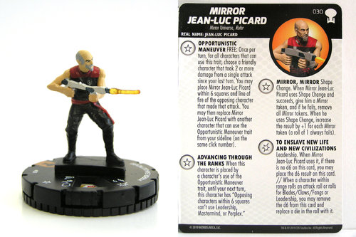 HeroClix - #030 Mirror Jean-Luc Picard - Star Trek To Boldly Go