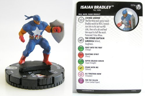 HeroClix - #001a Isaiah Bradley - Captain America and the Avengers