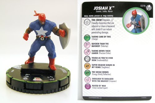 HeroClix - #001b Josiah X - Captain America and the Avengers