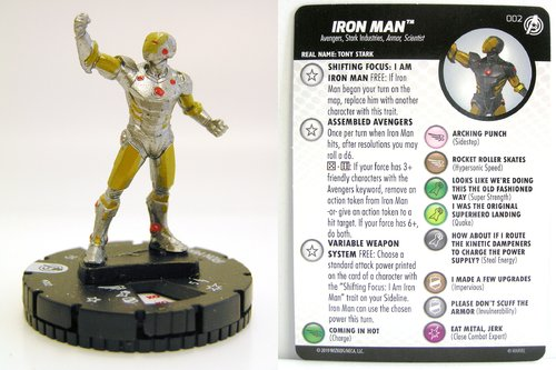 HeroClix - #002 Iron Man - Captain America and the Avengers