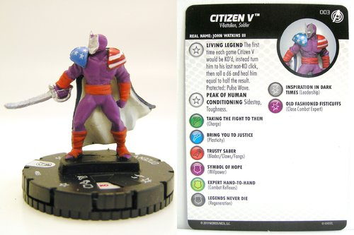 HeroClix - #003 Citizen V - Captain America and the Avengers