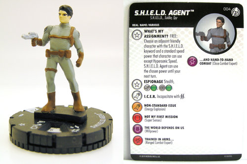 HeroClix - #004 S.H.I.E.L.D. Agent - Captain America and the Avengers