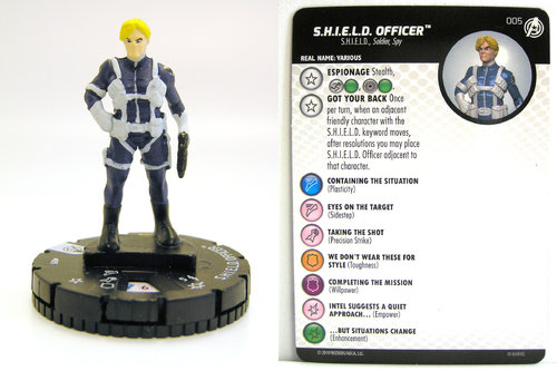 HeroClix - #005 S.H.I.E.L.D. Officer - Captain America and the Avengers