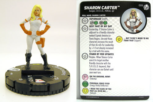 HeroClix - #006 Sharon Carter - Captain America and the Avengers