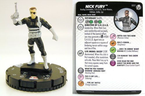 HeroClix - #007 Nick Fury - Captain America and the Avengers
