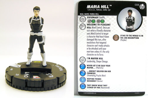 HeroClix - #008 Maria Hill - Captain America and the Avengers