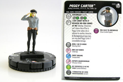 HeroClix - #009 Peggy Carter - Captain America and the Avengers
