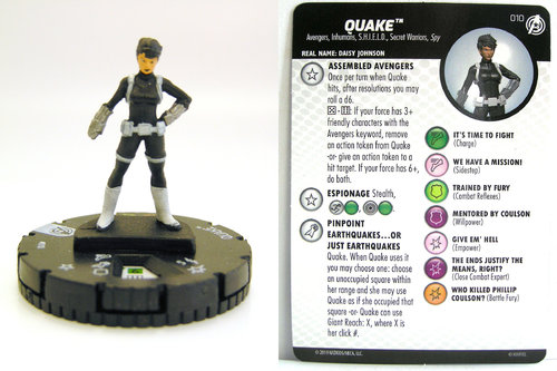 HeroClix - #010 Quake - Captain America and the Avengers