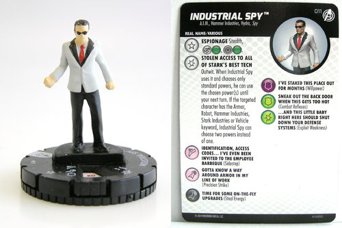 HeroClix - #011 Industrial Spy - Captain America and the Avengers