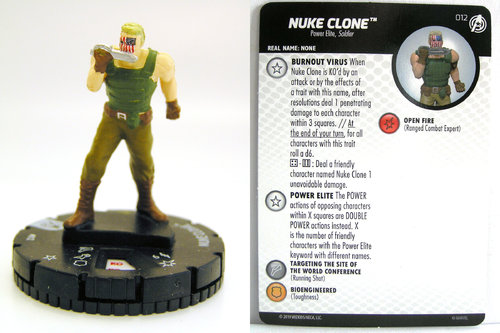 HeroClix - #012 Nuke Clone - Captain America and the Avengers