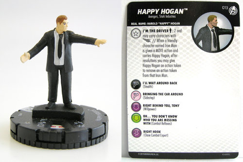 HeroClix - #013 Happy Hogan - Captain America and the Avengers