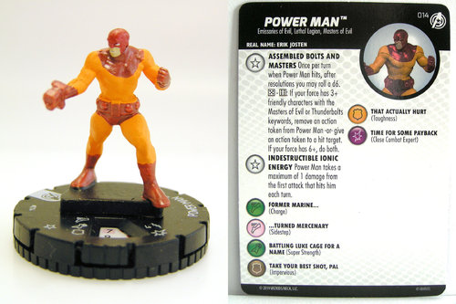 HeroClix - #014 Power Man - Captain America and the Avengers