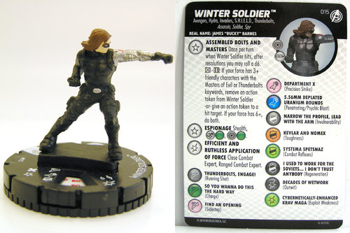 HeroClix - #015 Winter Soldier - Captain America and the Avengers
