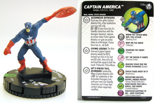 HeroClix - #018a Captain America - Captain America and the Avengers