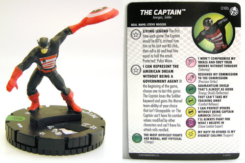 HeroClix - #018b The Captain - Captain America and the Avengers