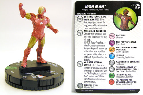 HeroClix - #019 Iron Man - Captain America and the Avengers