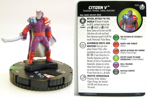 HeroClix - #020 Citizen V - Captain America and the Avengers
