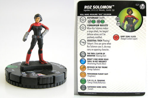 HeroClix - #021 Roz Solomon - Captain America and the Avengers