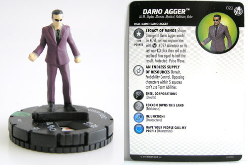 HeroClix - #022 Dario Agger - Captain America and the Avengers