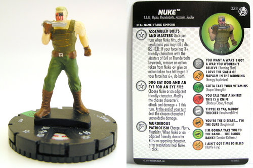HeroClix - #023 Nuke - Captain America and the Avengers