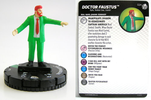 HeroClix - #024 Doctor Faustus - Captain America and the Avengers