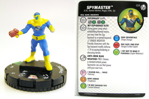 HeroClix - #025 Spymaster - Captain America and the Avengers