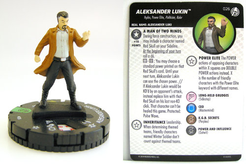 HeroClix - #026 Aleksander Lukin - Captain America and the Avengers