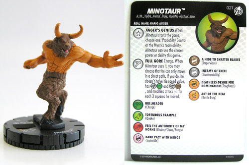 HeroClix - #027 Minotaur - Captain America and the Avengers