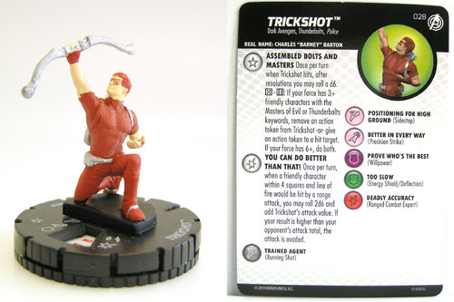 HeroClix - #028 Trickshot - Captain America and the Avengers
