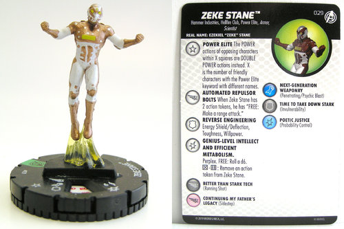 HeroClix - #029 Zeke Stane - Captain America and the Avengers