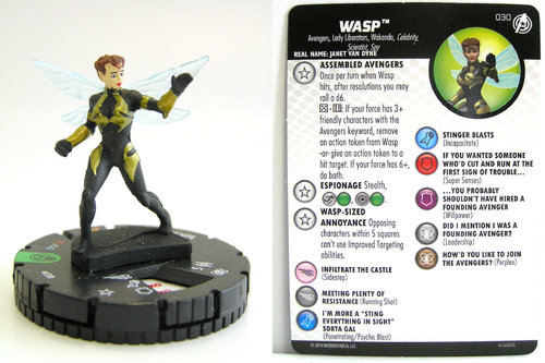 HeroClix - #030 Wasp - Captain America and the Avengers