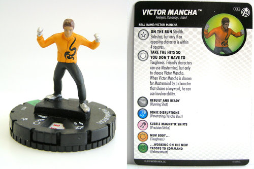 HeroClix - #033 Victor Mancha - Captain America and the Avengers