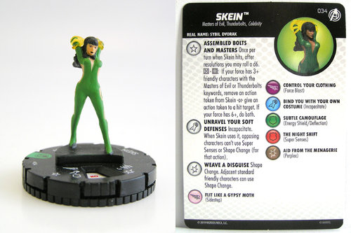 HeroClix - #034 Skein - Captain America and the Avengers
