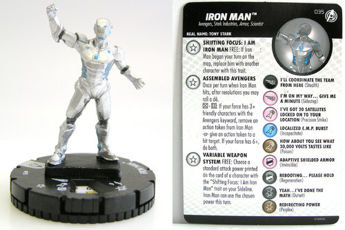 HeroClix - #035 Iron Man - Captain America and the Avengers